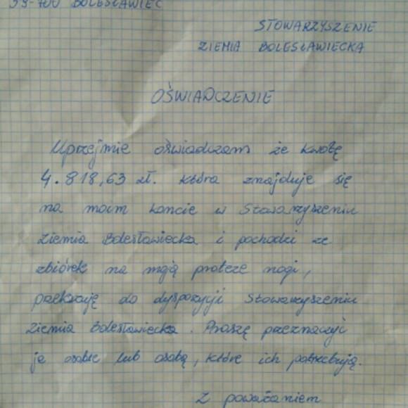 Oświadczenie Mateusza Bińczyckiego