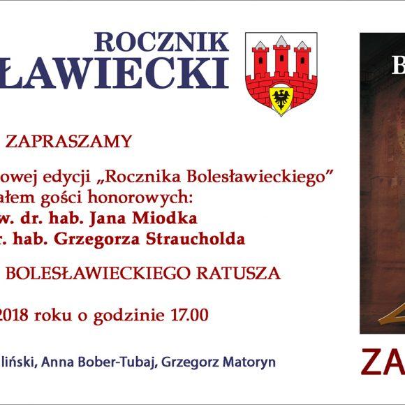 Zaproszenie na prezentację Rocznika Bolesławieckiego 2017